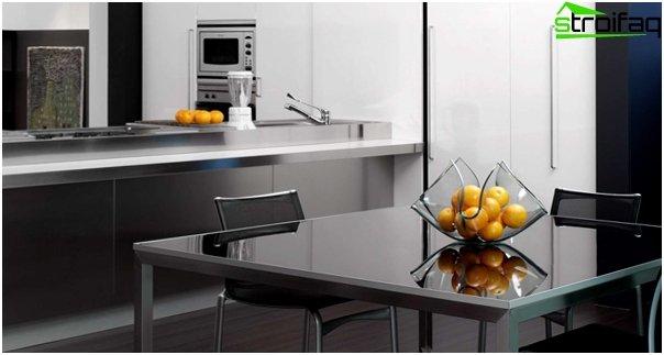 Мебель из металла кухня-4