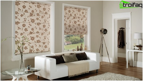 cotton Roman blinds - 6