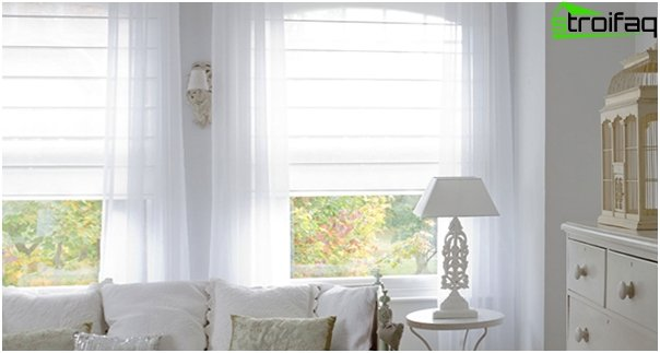 synthetic Roman blinds - 2