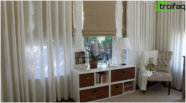 synthetic Roman blinds - 3