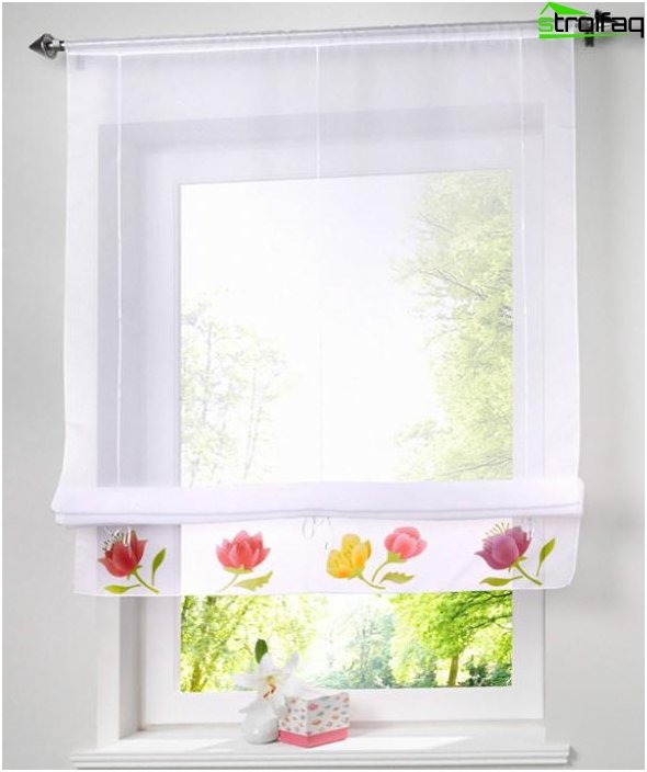 synthetic Roman blinds - 5