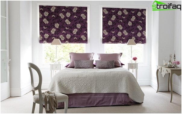 Blended Roman blinds - 2