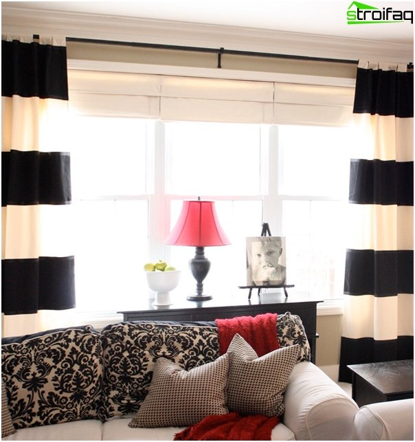 Blended Roman blinds - 5