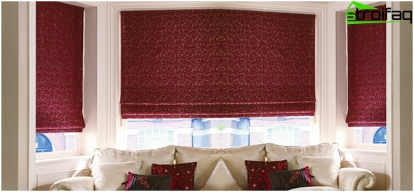 Blended Roman blinds - 6