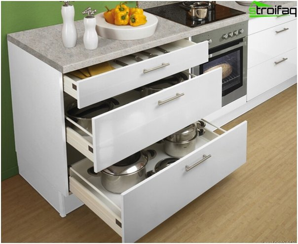 Kitchen furniture (cabinets and drawers) - 4