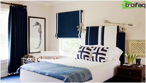 Roman blinds in a marine style - 3