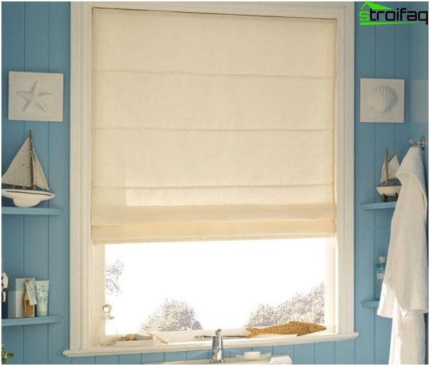 Roman blinds in a marine style - 4