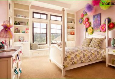Children's room for the girl: we create a cozy interior design