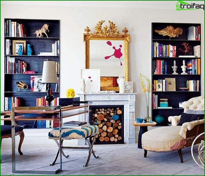 Interior in eclectic style 1