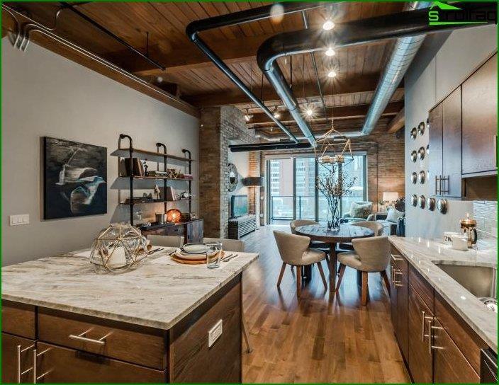 Loft style interior 1