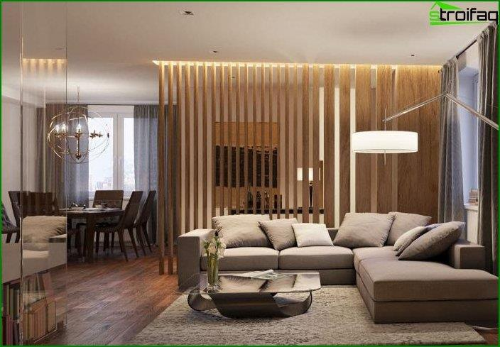 Kitchen-living room design 7