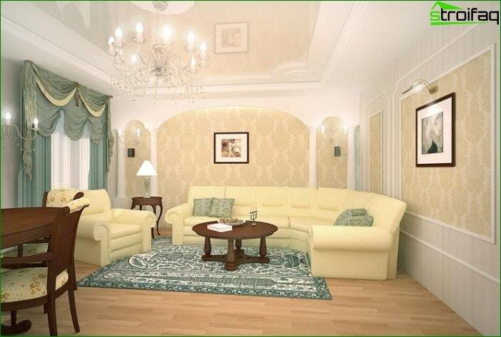 living room design in classic style