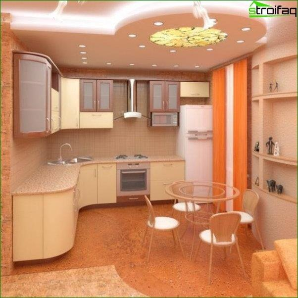 Ceiling Design a small kitchen