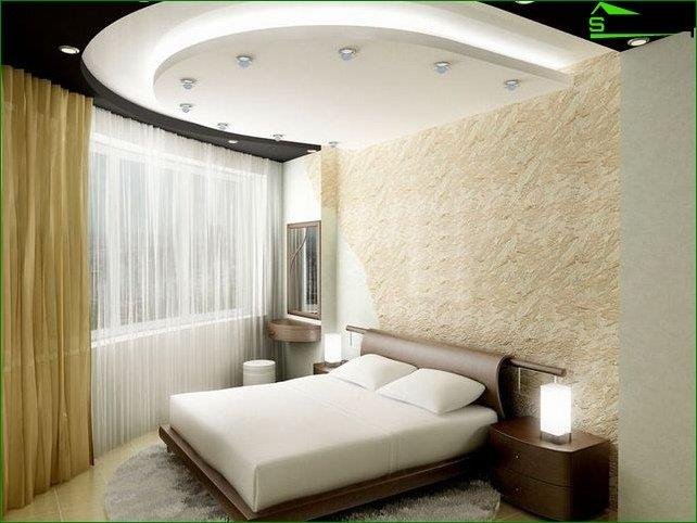 Design ceiling small bedroom