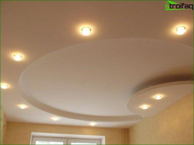 Photos of the ceiling plasterboard