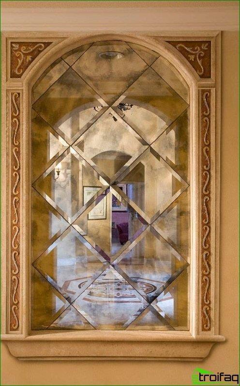 Facet mirror eastern interior