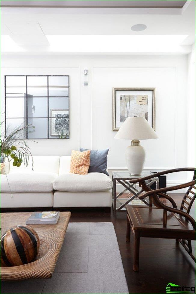 Facet mirror organically emphasize minimalism space