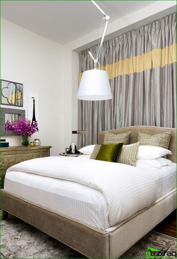 Thick curtains will help to get rid of the bright sunlight, drafts and noise
