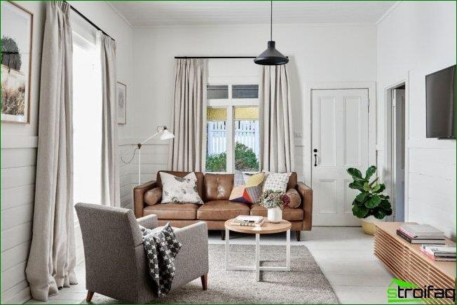 Bright modern living room with a small coffee table