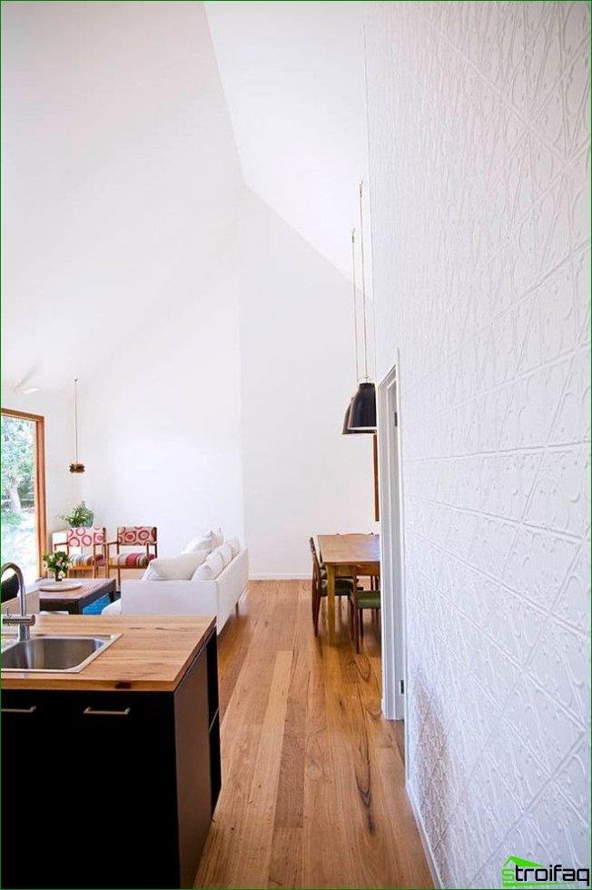 White plenty of light to visually increase the space