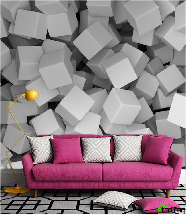 Volumetric 3D wallpapers as a wall panel