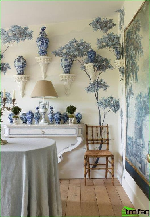 Chinese porcelain can be an excellent complement a dining room in the interior of the Maharajas