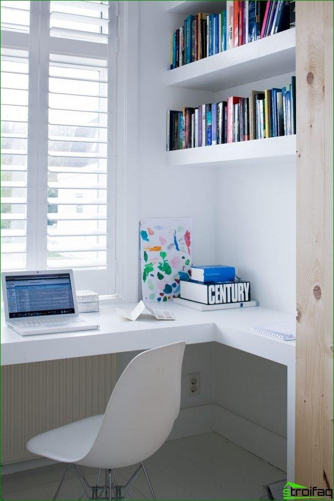 With the help of the sill-table top, you can make a very comfortable workplace