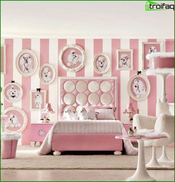 Interior design of a bedroom for children 9