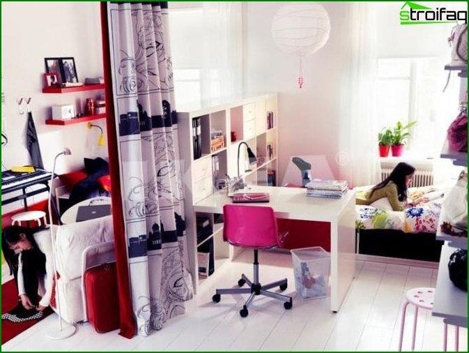 Дитяча спальня для дівчинки - інтер'єр