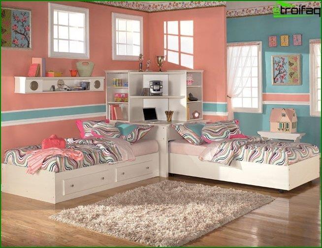 Як зробити інтер'єр кімнати для двох дівчаток 6