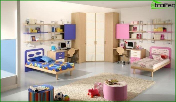 Дизайн дитячої для хлопчика і дівчинки 3