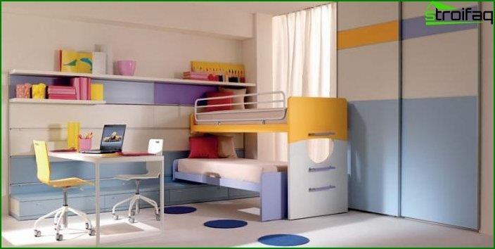 Дизайн дитячої для хлопчика і дівчинки 4