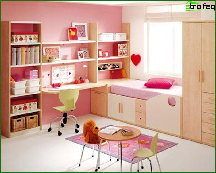 Interior design of children's bedroom