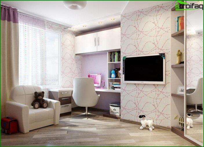 Дизайн інтер'єру дитячої спальні 8