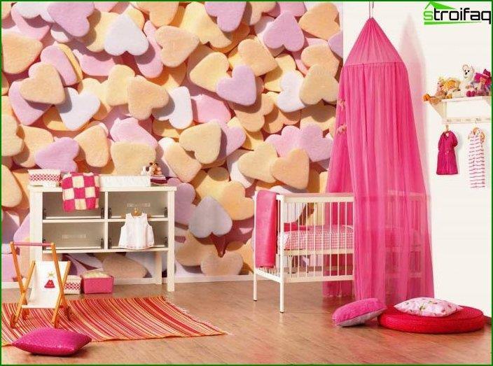 Дизайн інтер'єру дитячої спальні 9
