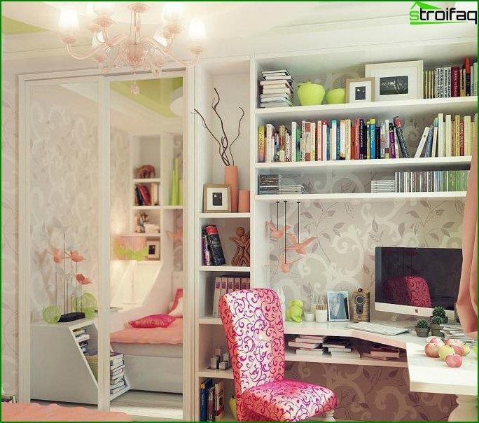 Дизайн інтер'єру дитячої спальні 10