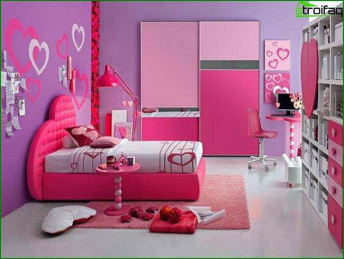 Interior design of a bedroom for children