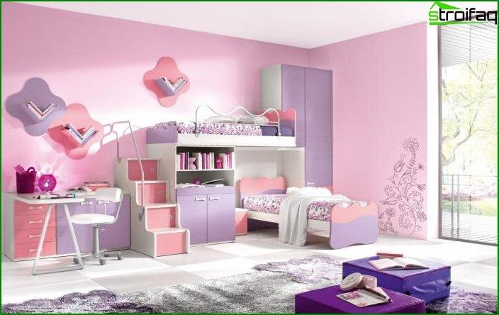 Interior design of a bedroom for children 5