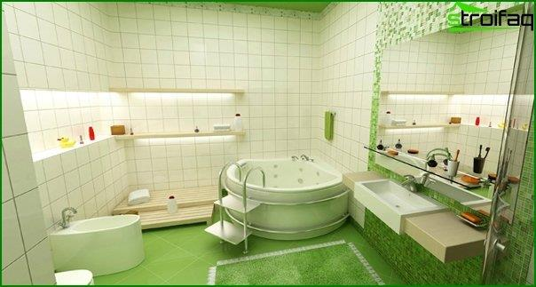 Tile green in the bathroom interior - 4
