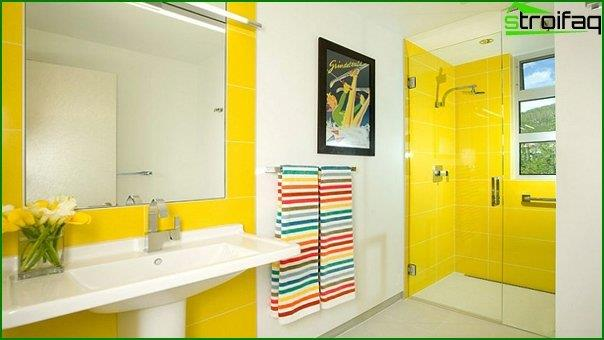Tiles of different colors in the bathroom interior - 2