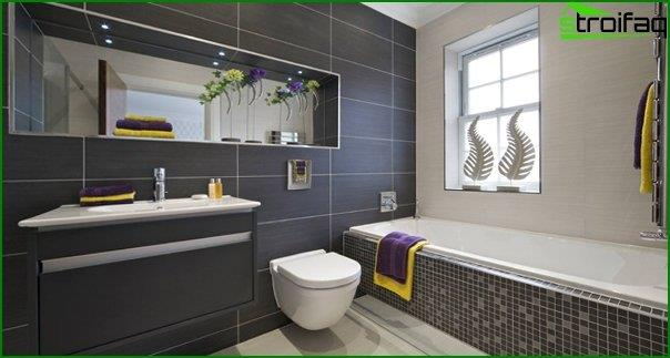 Tiles of different colors in the bathroom interior - 8