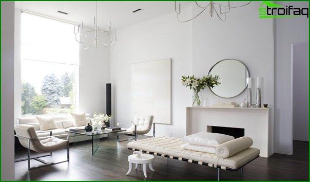 Living room in modern style (minimalist furniture) - 2