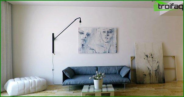 Living room in modern style (minimalist furniture) - 3