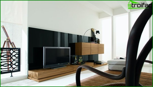 Living room in a modern style (minimalism furniture) - 5