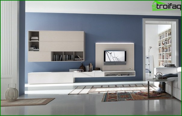 Living room furniture in modern style (high-tech) - 1