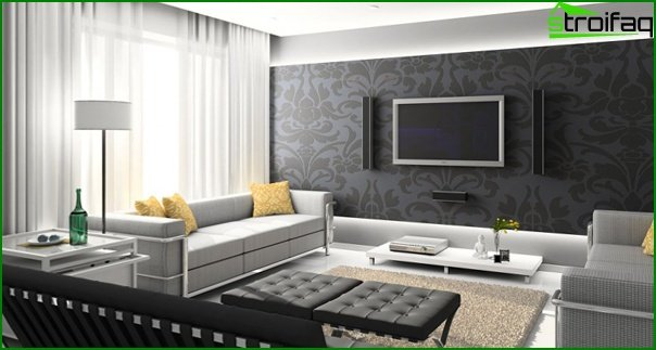 Living room furniture in modern style (high-tech) - 2
