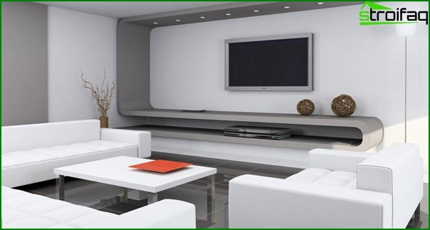 Living room furniture in modern style (high-tech) - 3