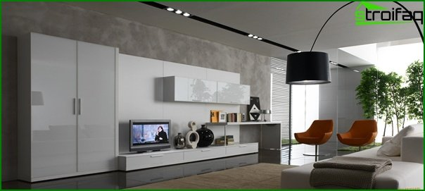 Living room furniture in modern style (high-tech) - 4