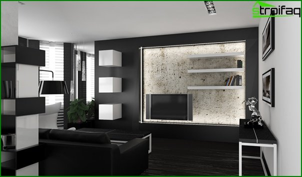 Living room furniture in modern style (high-tech) - 5