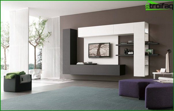 Living room in modern style (high-tech furniture) - 2
